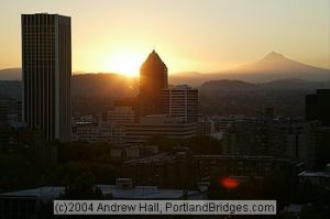 Portland at sunrise